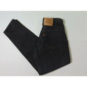 Vintage Levi's 560 31 X 32 Black Jeans Loose Fit